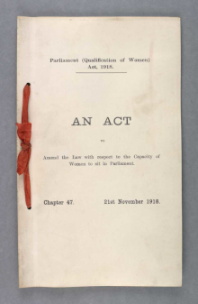parliament-qualifications-of-women-act-1918