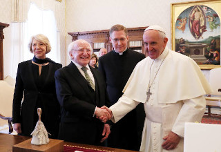 michael-higgins-and-pope-francis